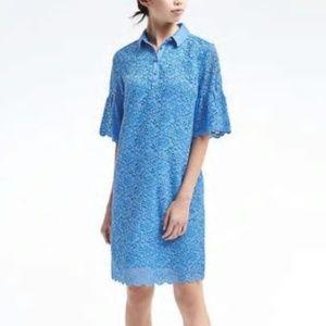 Banana Republic Petite Flutter-Sleeve Lace Dress.